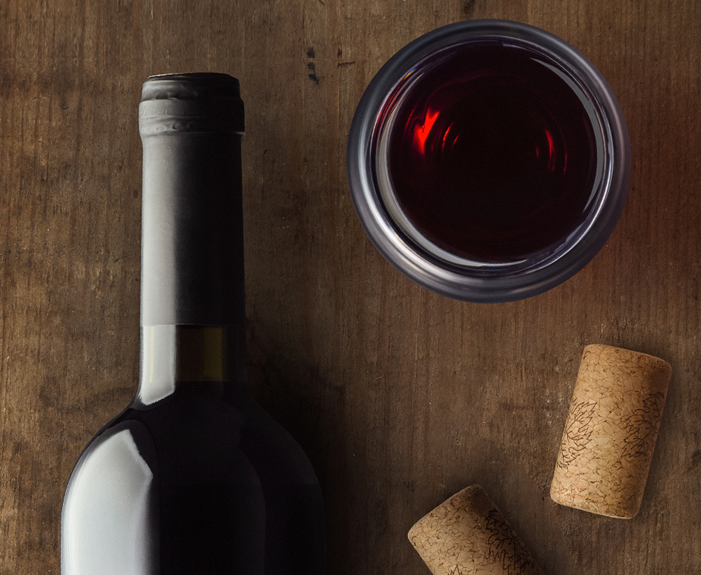 Red Wine Bottle and Cork