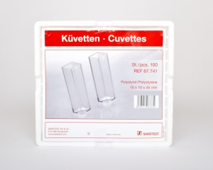 Cuvette 10mm 2-4mL 100pack (Spectrophotometer)