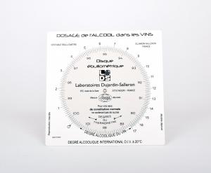 Ebulliometer conversion disc (Dujardin-Salleron)