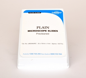 Microscope slide plain 75x25mm 100pk