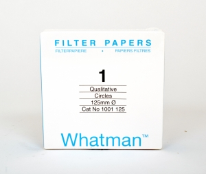 Filter paper Whatman No.1 125mm dia 11um 100 per pack