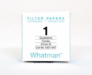 Filter paper Whatman No.1 47mm dia 11um 100 per pack