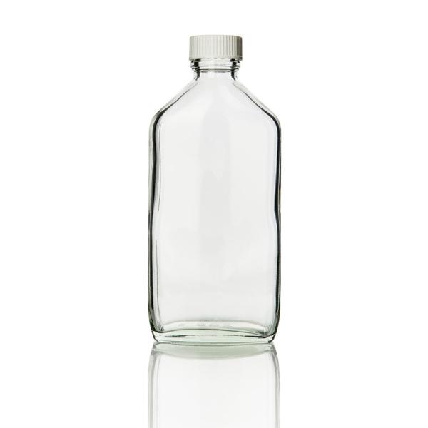 Bottle Clear glass Medicine Round 100ml