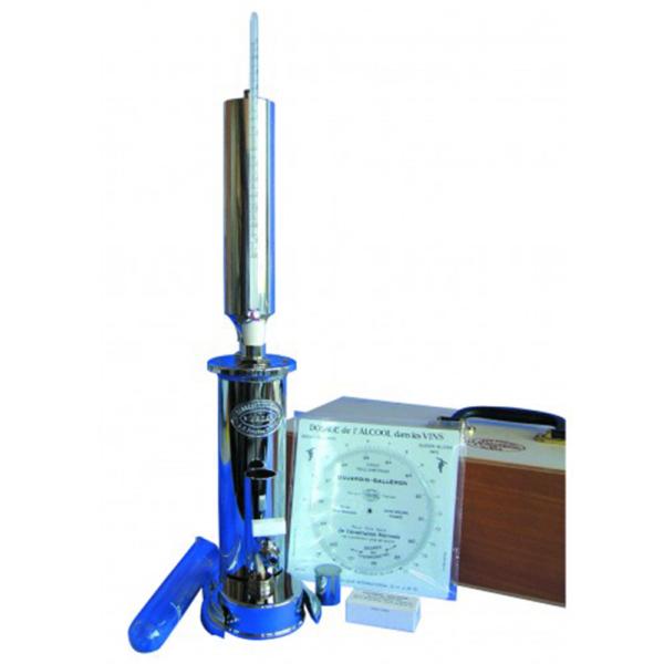 Ebulliometer for Wine Dujardin Salleron complete in wooden case