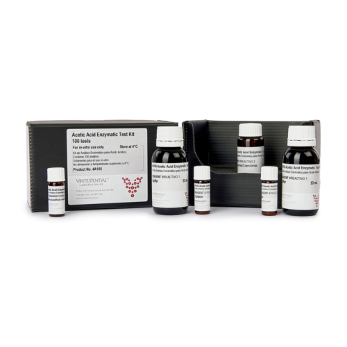 Enzymatic Test Kit 100 tests for measuring Acetic Acid in grape juice and wines by enzymatic assay for in vitro use only