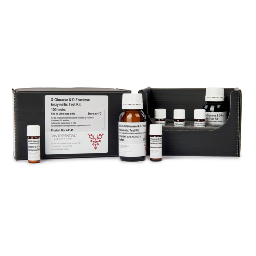 Enzymatic Test Kit 100 tests for measuring D-Glucose D-Fructose in grape juice and wine for in vitro use only