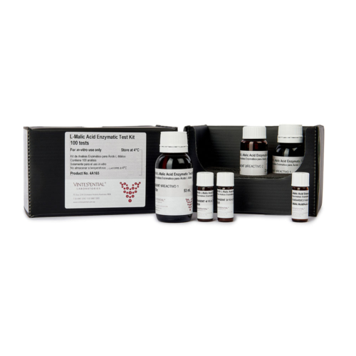 Enzymatic Test Kit 100 Tests or measuring L-Malic acid in grape juice and wine for in vitro use only
