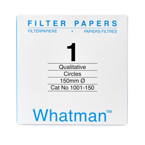 Filter paper Whatman No 1 150mm dia 11um 100 per pack