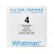Filter paper Whatman No 4 150mm dia 25um 100 per pack
