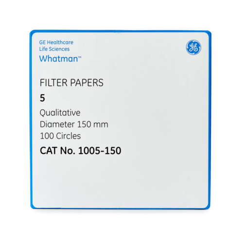 Filter paper Whatman No 5 150mm dia 2 5um 100 per pack