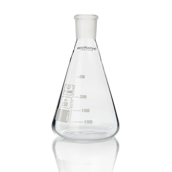 Flask conical Erlenmeyer B24 top 250mL
