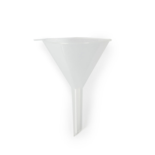 Funnel plastic 70mm dia 60mm stem autoclavable