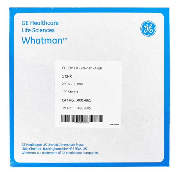Paper chromatography Whatman 1 CHR 20cm pack 10