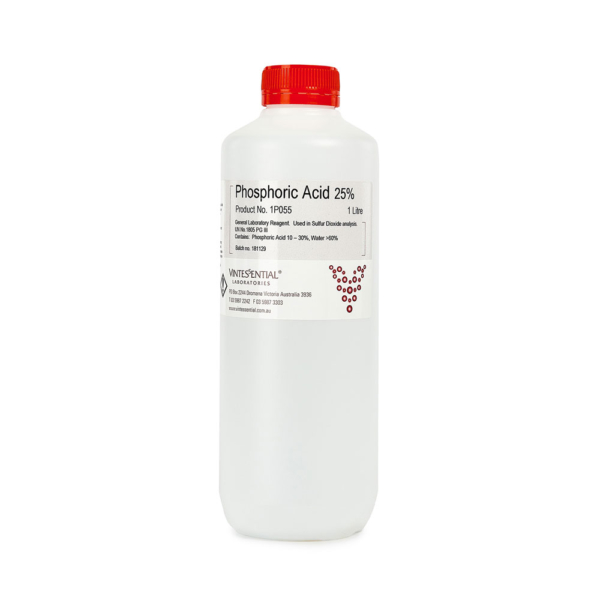 Phosphoric acid 25 percent 1L orthophosphoric acid