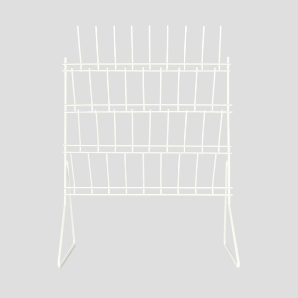 Rack draining bench mounted 36 pegs plastic coated 500mm