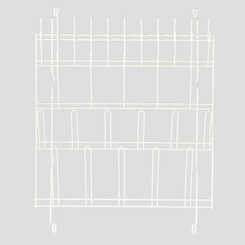 Rack draining wall mounted 38 pegs plastic coated 600mm